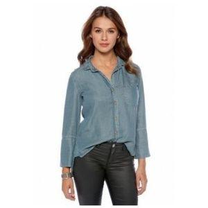 Anthro CLOTH & STONE Shirt Tail Button Down Shirt